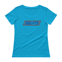 Squats Logo - Ladies' Scoopneck T-Shirt