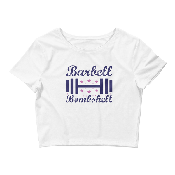 Barbell Bombshell - Women's Crop Top Tee