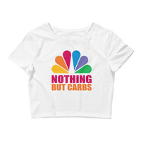 Nothing But Carbs Logo - Women's Crop Tee