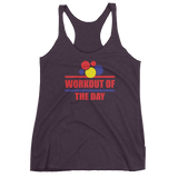 Workout Of The Day Logo - Women's Racerback Tank