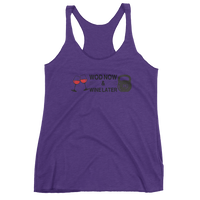 WOD Now Wine Later - Women's Racerback Tank