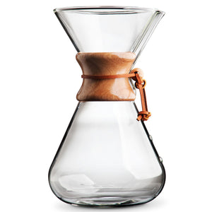 Chemex Hand Blown, Pour-over Glass Coffeemaker, 13-Cup