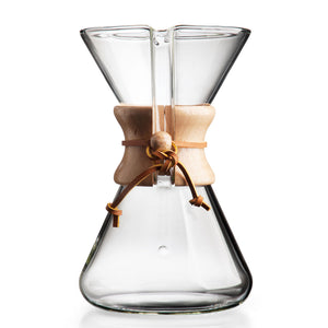 Chemex Hand Blown, Pour-over Glass Coffeemaker, 8-Cup