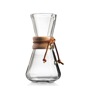 Chemex Hand Blown, Pour-over Glass Coffeemaker, 3-Cup