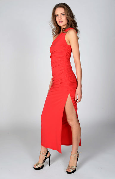 New Angelina Maxi Dress in Red