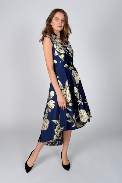 Meghan Blue Midi Dress