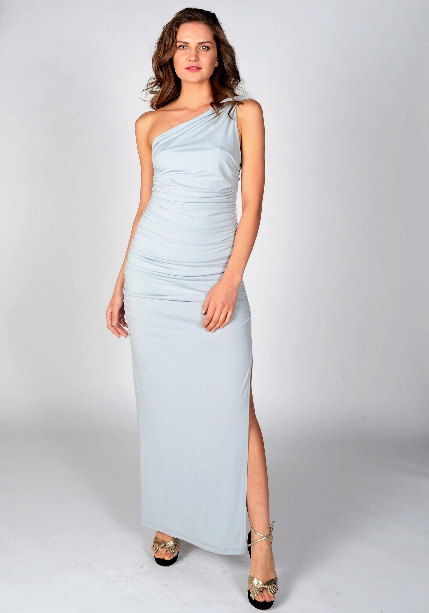 New Angelina Maxi Dress in Dove Grey