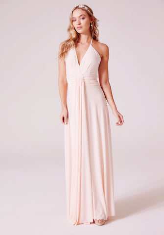 Eleni Maxi Bridesmaid Dress in Nude Blush