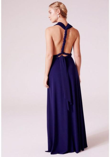 Alexis Multiway Maxi Dress In Navy