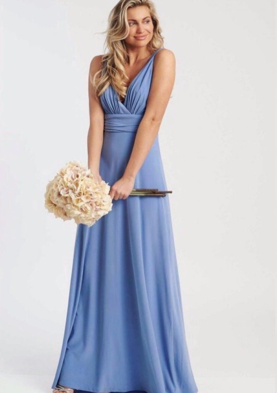 Lana Dusty Blue Maxi Dress