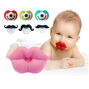 Silicone Funny Baby Pacifier Infant Nipple Soother Joke Prank Toddler Nipple Teether Newborn Pacifier Clips Nipples Bottle Nozzl