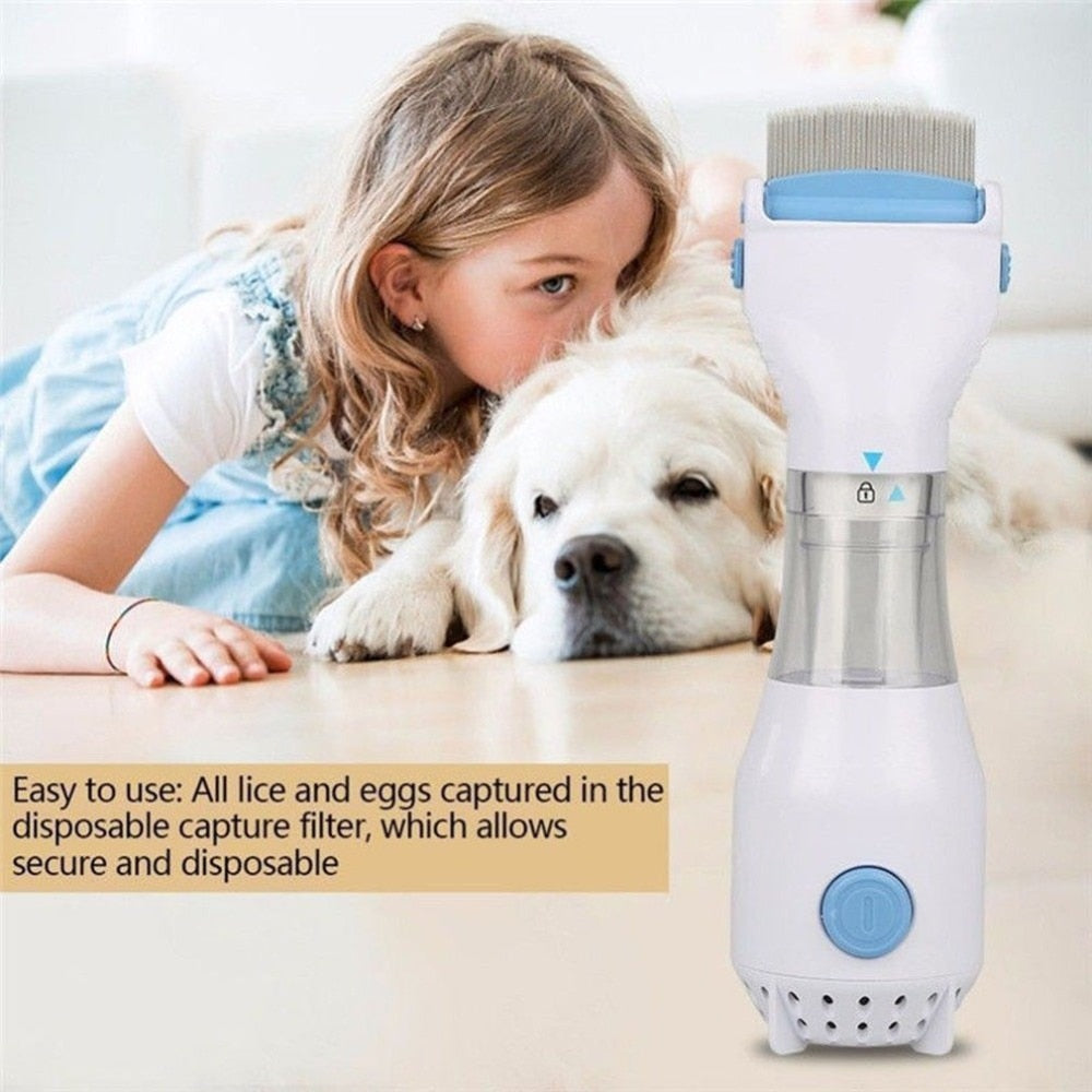 Automatic Head Lice Eliminator Safe Electric Flea Comb Cleaner Cleanser Treatment For Pet Dog Cat dropshipping