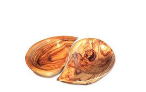 Olive wood tear-shaped dishes (set)