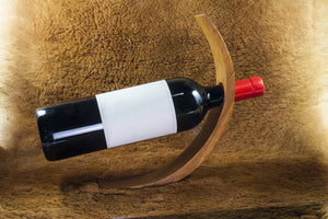 BOTTLE HOLDER made of Olive Wood, Handmade, made from a single block, Natural, Chemical Free