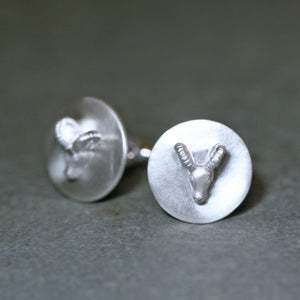 Ram Cufflinks in Sterling Silver