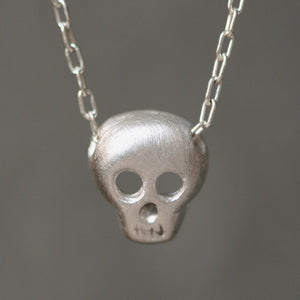 "Skull Necklace UNISEX necklaces,HALLOWEEN,skulls,for men skull-necklace-in-sterling-silver White Bronze with Stainless Steel Chain / 16"",White Bronze with Stainless Steel Chain / 18"",White Bronze with Stainless Steel Chain / 20"",White Bronze with Stainless Steel Chain / 22"",White Bronze with Stainless Steel Chain / 24"",Brass with Yellow Gold Fill Chain / 16"",Brass with Yellow Gold Fill Chain / 18"",Brass with Yellow Gold Fill Chain / 20"",Brass with Yellow Gold Fill Chain / 22"",Brass with Yellow Gold Fill Cha"