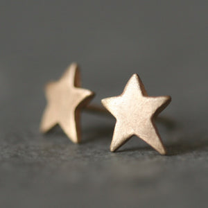 Star Stud Earrings in 14K Gold symbols,earrings star-stud-earrings-in-14k-gold 14K Yellow,14K White
