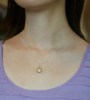 Turtle Necklace in 10K Gold and Sterling Silver