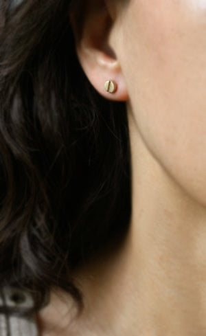 Screw Head Earrings in 14K Gold