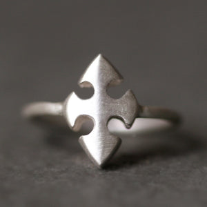 Knights Templar Cross Ring in Sterling Silver