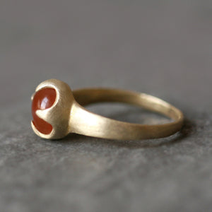 Thorny Cab Ring in Brass with Carnelian rings,nature/organic thorny-cab-ring-in-brass-with-carnelian 5,5.5,6,6.5,7,7.5,8