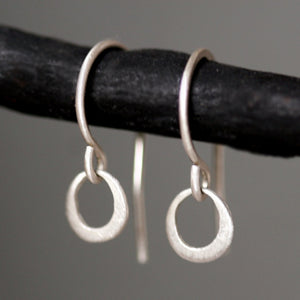 Tiny Ring Earrings in Sterling Silver earrings,nature/organic tiny-ring-earrings-in-sterling-silver Default Title