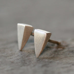 Small Spike Stud Earrings Sterling Silver