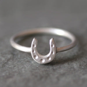 Horseshoe Ring in Sterling Silver