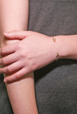Ram Cuff Bracelet in 14K Gold and Sterling Silver