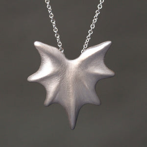 "Thorny Leaf Necklace in Sterling Silver necklaces,nature/organic thorny-leaf-necklace-in-sterling-silver 28"",30"",32"""