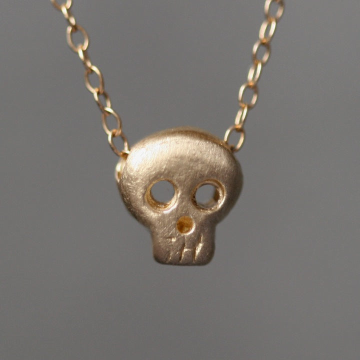 Baby Skull Necklace In 14k Gold Michelle Chang