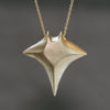 Large Manta Ray Necklace in Brass with Gold Filled Chain