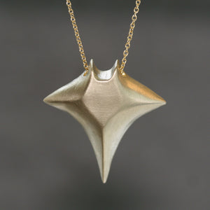 "Large Manta Ray Necklace in Brass with Gold Filled Chain ocean,necklaces large-manta-ray-necklace-in-brass-with-gold-filled-chain 28"",30"",32"""