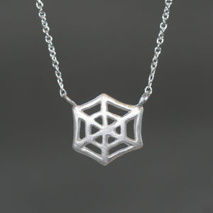 Web Necklace in Sterling Silver