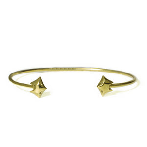 Fox Cuff Bracelet in 18K Gold Plate