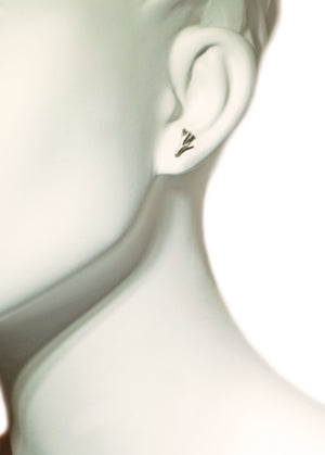 Tiny Branch Stud Earrings in Sterling Silver