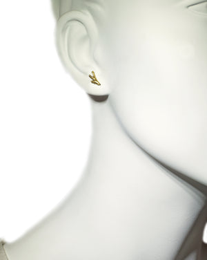 Tiny Branch Stud Earrings in 18K Gold Plate