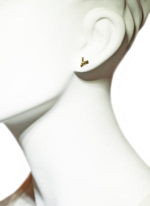 Ram Stud Earrings in 18K Gold Plate