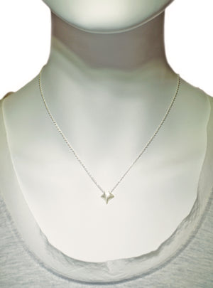 Baby Manta Ray Necklace in Sterling Silver