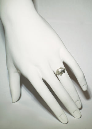 Elephant Ring in Sterling Silver