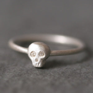 Baby Skull Ring in Sterling Silver with Diamonds skulls,rings,HALLOWEEN baby-skull-ring-in-sterling-silver-with-diamonds 4,4.5,5,5.5,6,6.5,7,7.5,8,8.5,9,9.5