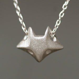 "Fox Necklace in Sterling Silver necklaces,animal fox-necklace-in-sterling-silver 16"",17"",18"""