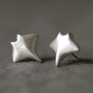 Baby Manta Ray Earrings in Sterling Silver