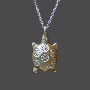 "Turtle Necklace in 10K Gold and Sterling Silver NEW Turtle turtle-necklace-in-10k-gold-and-sterling-silver 16"",17"",18"""