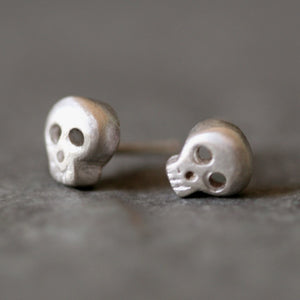 Baby Skull Earrings in Sterling Silver HALLOWEEN,skulls,earrings baby-skull-earrings-in-sterling-silver Default Title