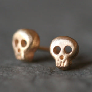 Baby Skull Earrings in 14K Gold skulls,earrings,HALLOWEEN baby-skull-earrings-in-14k-gold 14K Yellow,14K White,14K Rose