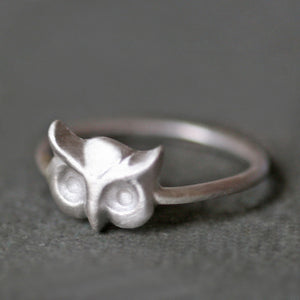 Owl Ring in Sterling Silver animal,rings owl-ring-in-sterling-silver 4,4.5,5,5.5,6,6.5,7,7.5,8,8.5,9