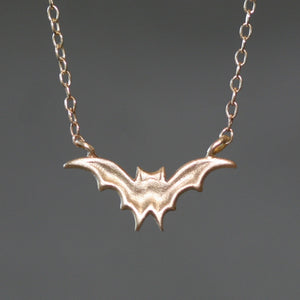 Bat Necklace in 14K Gold