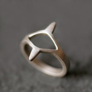 Egyptian Eye Ring in Sterling Silver