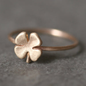 Small Four Leaf Clover Ring in 14K Gold rings,Luck for Sale,symbols small-four-leaf-clover-ring-in-14k-gold 4 / 14K Yellow,4 / 14K White,4 / 14K Rose,4.5 / 14K Yellow,4.5 / 14K White,4.5 / 14K Rose,5 / 14K Yellow,5 / 14K White,5 / 14K Rose,5.5 / 14K Yellow,5.5 / 14K White,5.5 / 14K Rose,6 / 14K Yellow,6 / 14K White,6 / 14K Rose,6.5 / 14K Yellow,6.5 / 14K White,6.5 / 14K Rose,7 / 14K Yellow,7 / 14K White,7 / 14K Rose,7.5 / 14K Yellow,7.5 / 14K White,7.5 / 14K Rose,8 / 14K Yellow,8 / 14K White,8 / 14K Rose,8.
